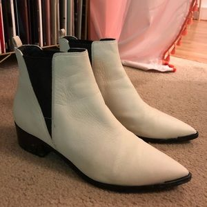 Marc Fisher White Leather Boots